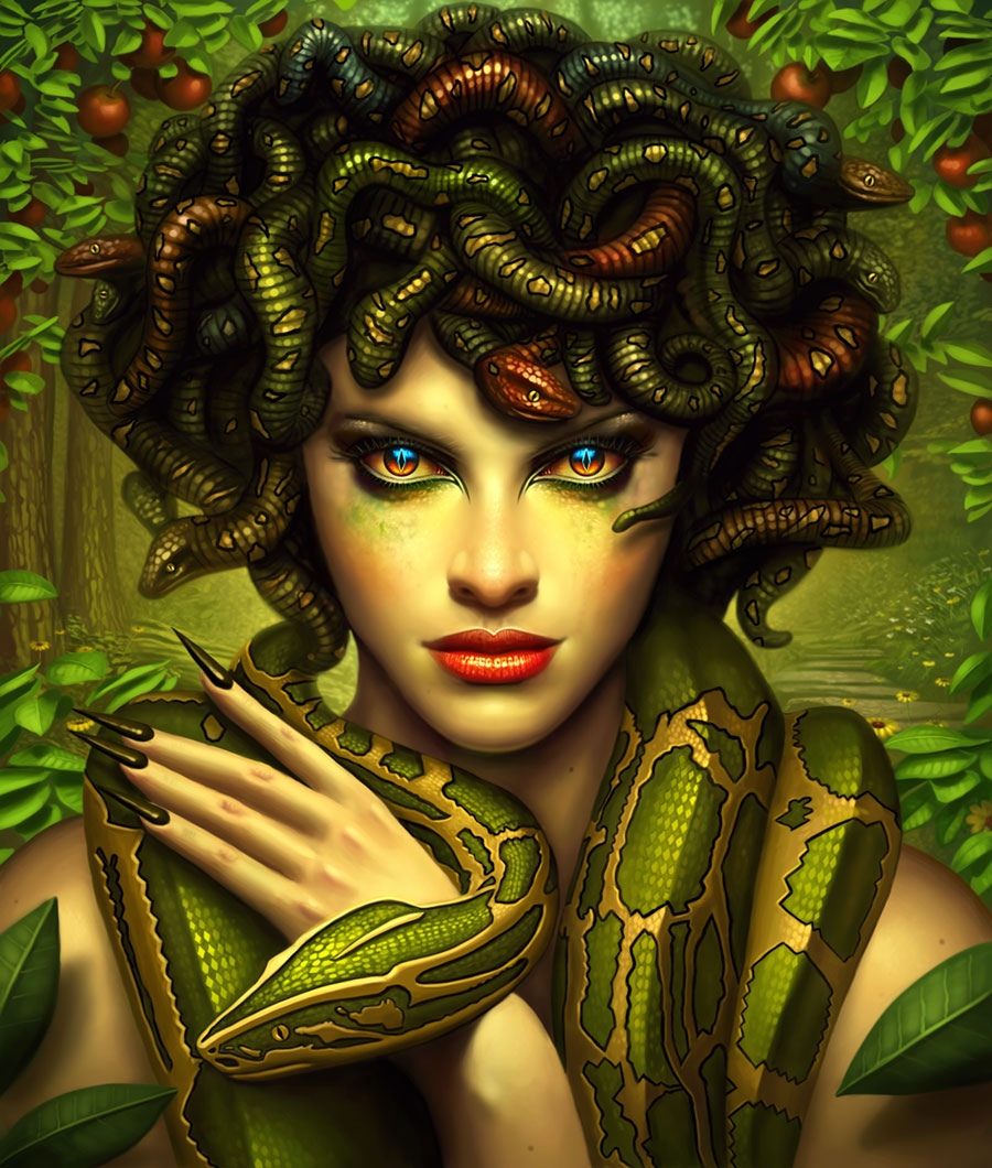 Medusa in Greek Myth: A Rape Victim Became a Monster ... |Greek Mythical Creatures Medusa